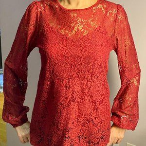 Michael Kors lace top with camisole
